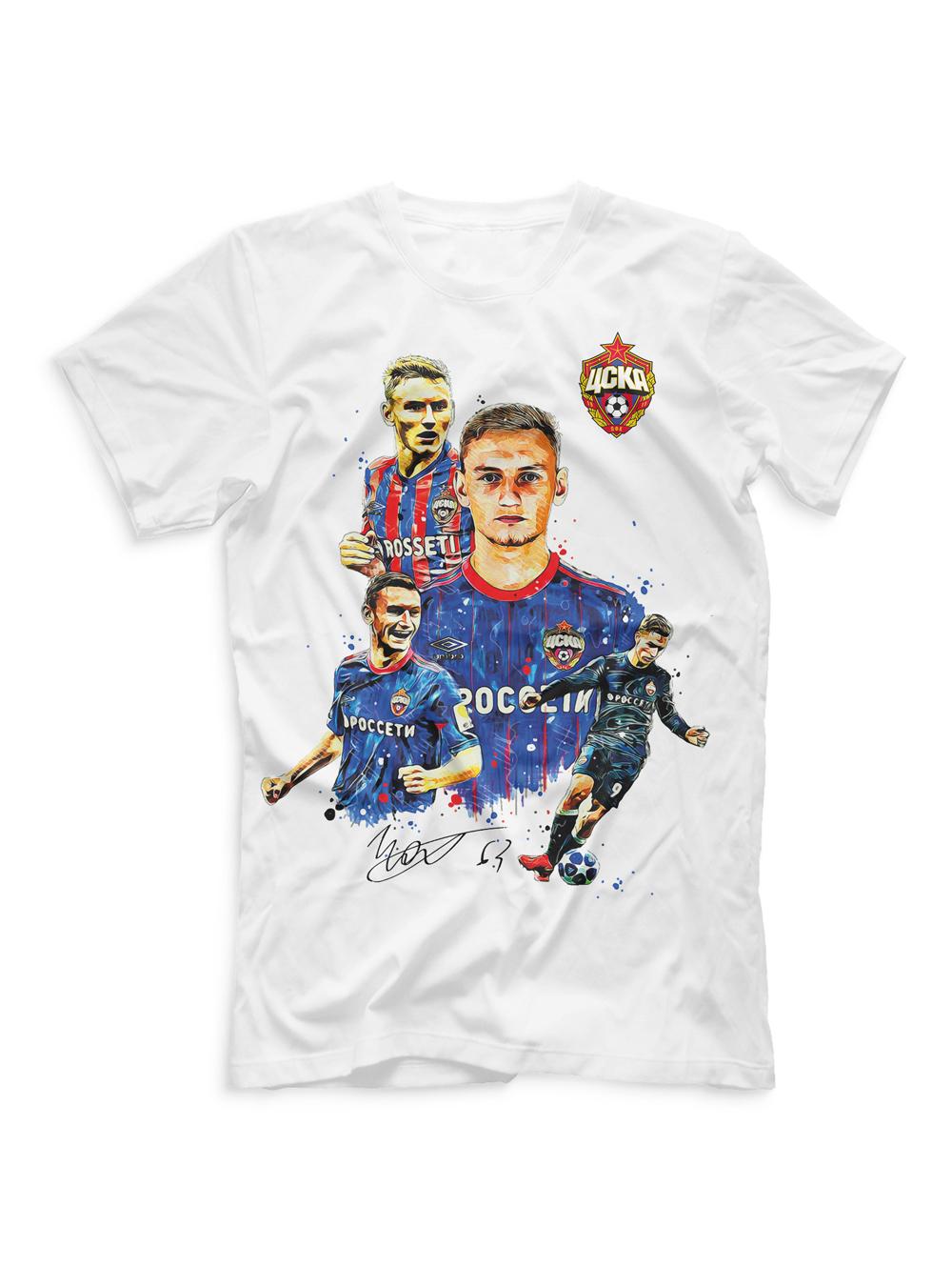 Купить Футболка мужская Чалов акварель (M) по Нижнему Новгороду