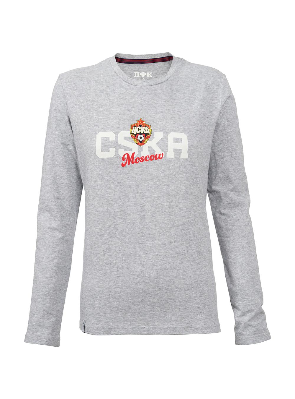 Купить Футболка с длинным рукавом женская «CSKA Mosсow», цвет серый (M) по Нижнему Новгороду