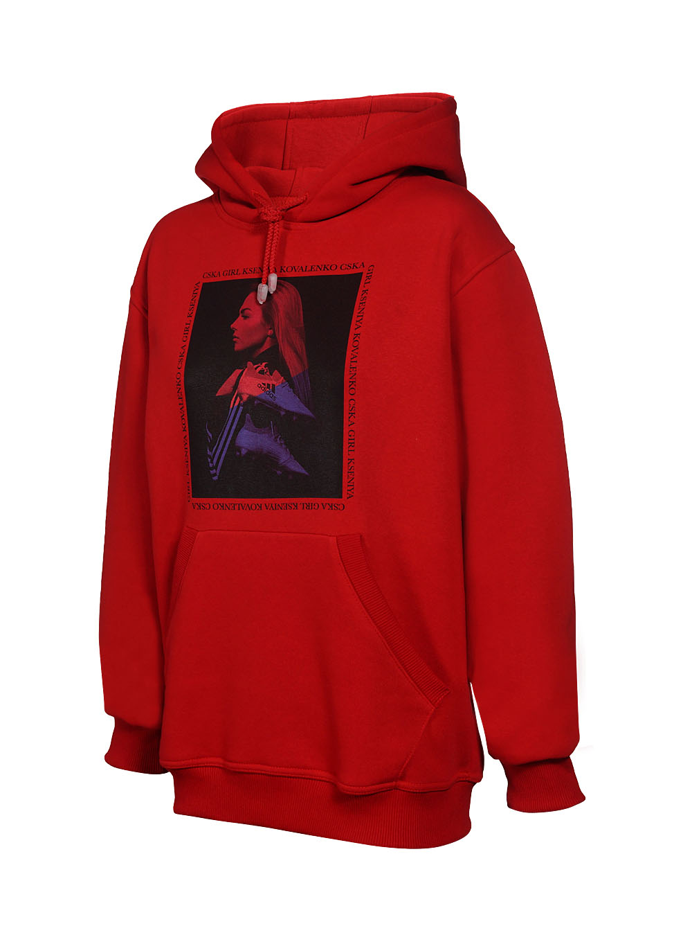 Купить Худи женское «Коваленко»,цвет красный (S) по Нижнему Новгороду