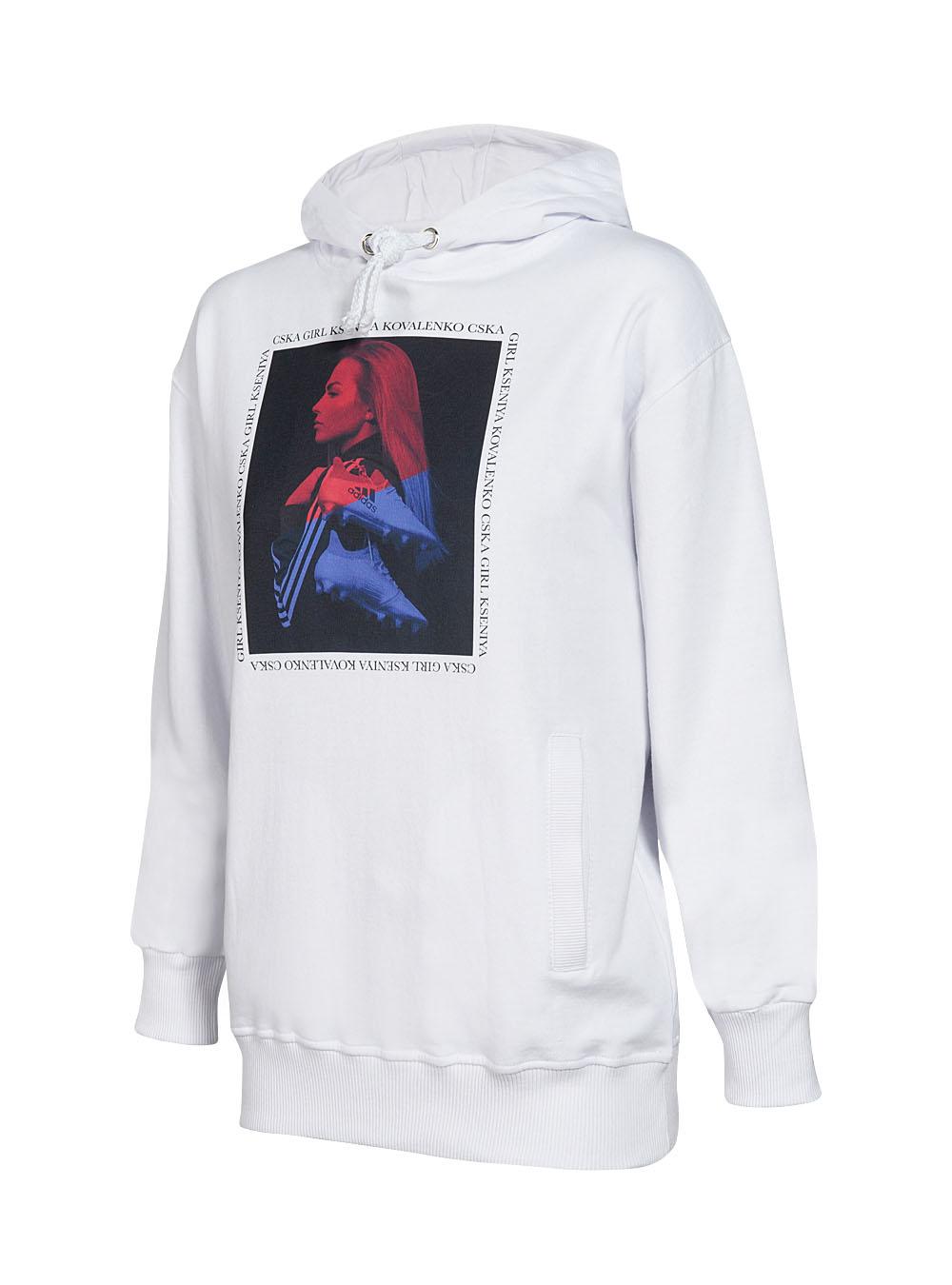 Купить Худи женское «Коваленко»,цвет белый (M) по Нижнему Новгороду
