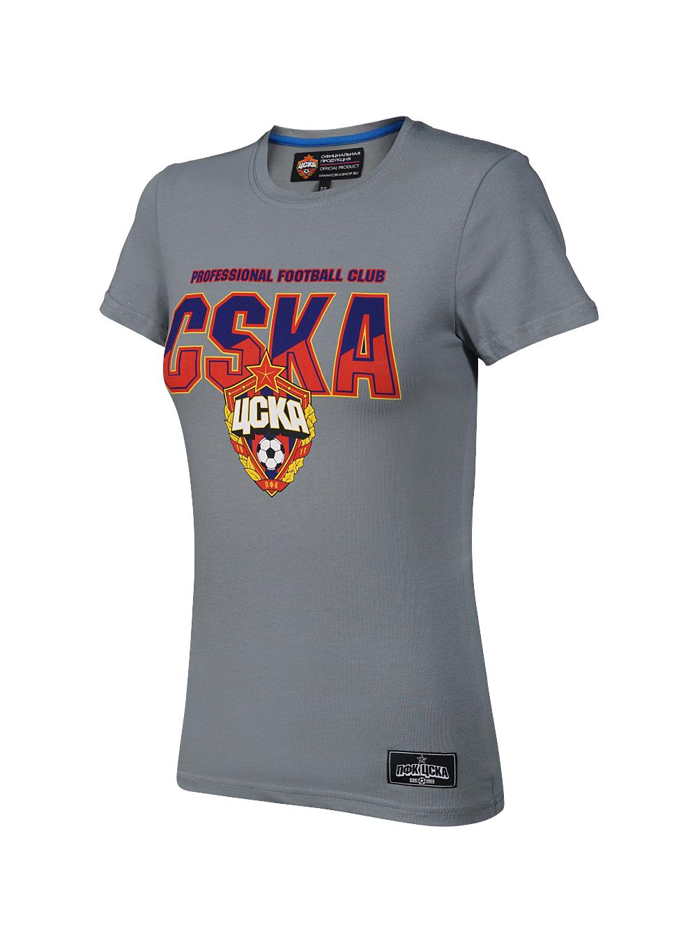 Купить Футболка женская «CSKA», цвет серый (XS) по Нижнему Новгороду