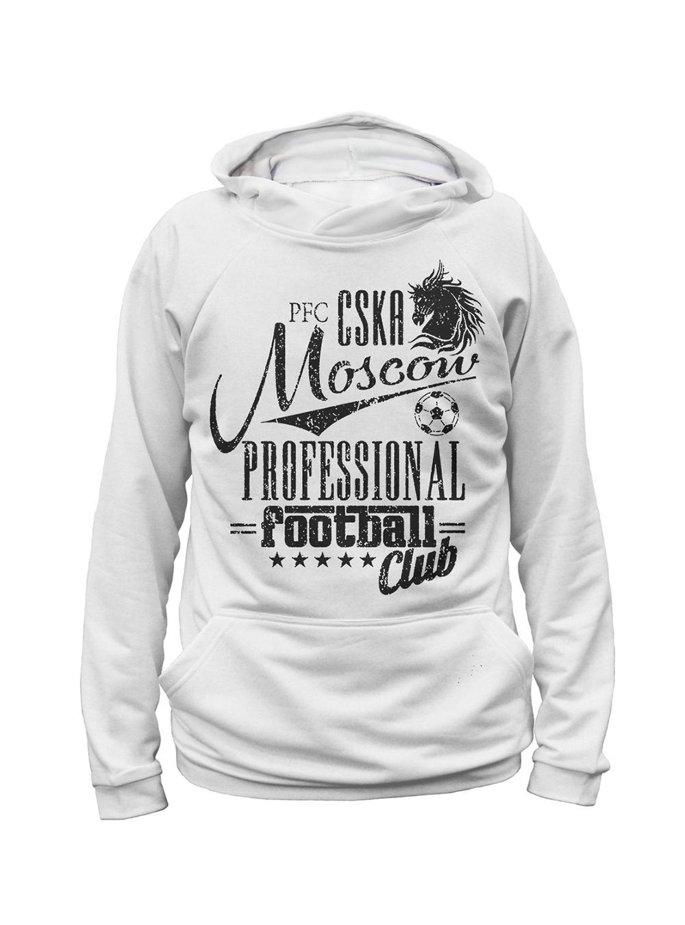 Купить Худи мужское «PFC CSKA Moscow», цвет белый (L) по Нижнему Новгороду