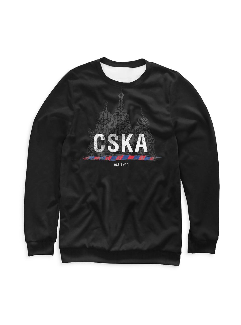 Купить Свитшот детский «CSKA 1911», цвет черный (146) по Нижнему Новгороду