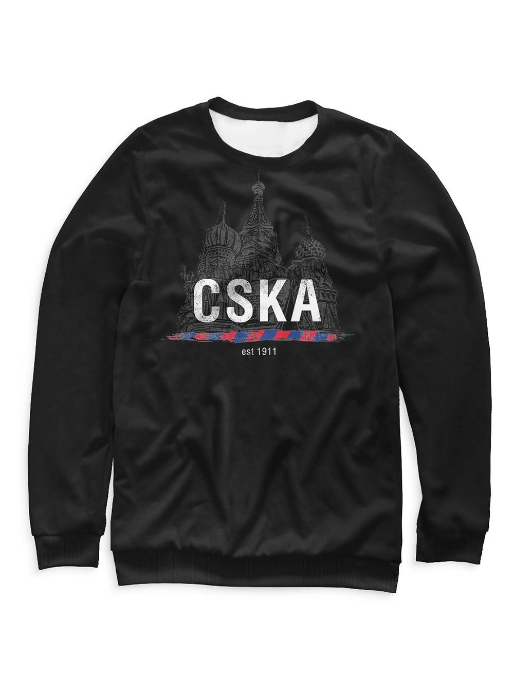 Купить Свитшот мужской «CSKA 1911», цвет черный (XXL) по Нижнему Новгороду