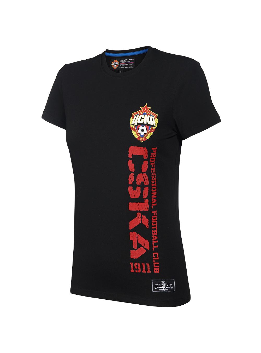 Купить Футболка женская » CSKA «, цвет чёрный (XS) по Нижнему Новгороду