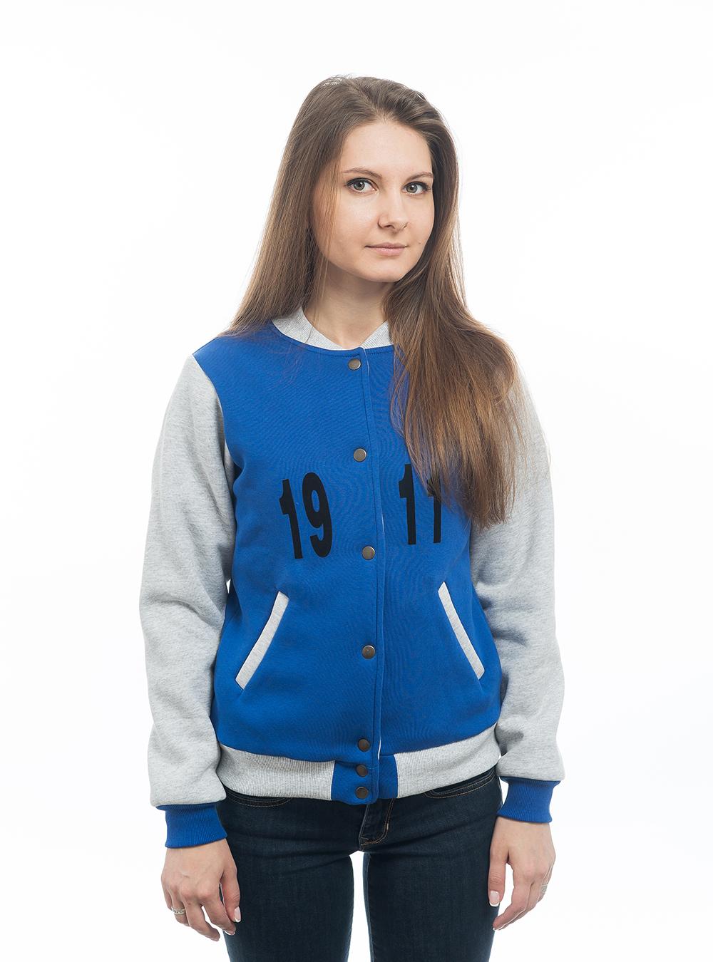 Купить Бомбер на кнопках «CSKAGIRL», цвет синий (S) по Нижнему Новгороду