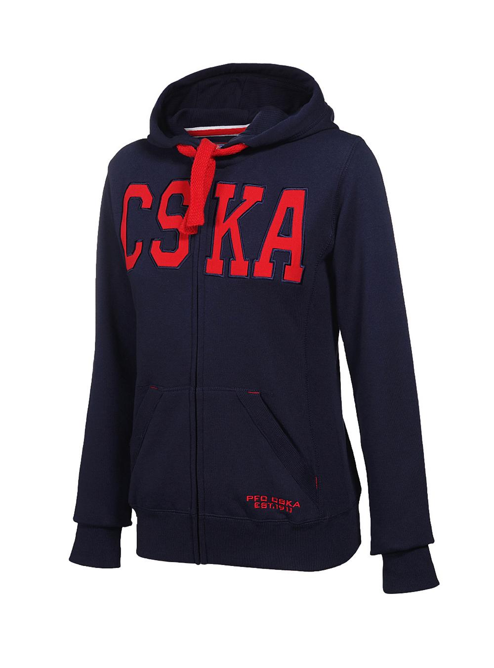 Купить Толстовка CSKA женская, цвет синий (S) по Нижнему Новгороду