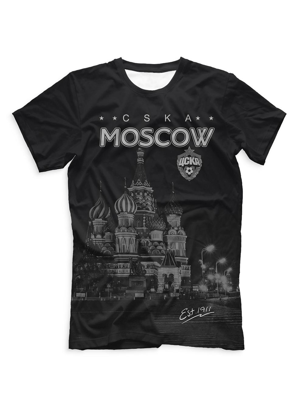 Купить Футболка мужская «ПФК ЦСКА. Красная Площадь» (XL) по Нижнему Новгороду