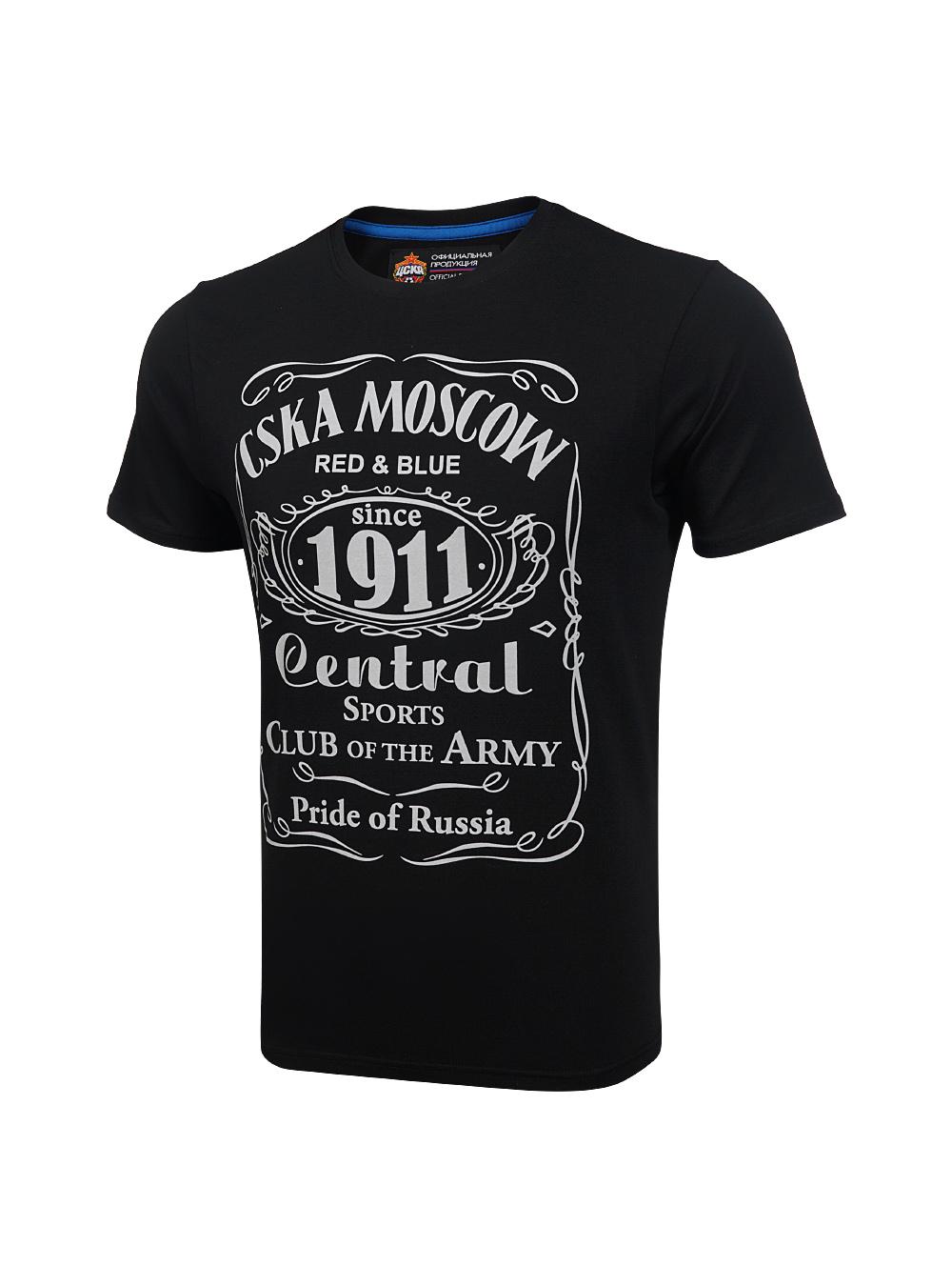 Купить Футболка » CSKA MOSCOW 1911 «cover, цвет чёрный (L) по Нижнему Новгороду
