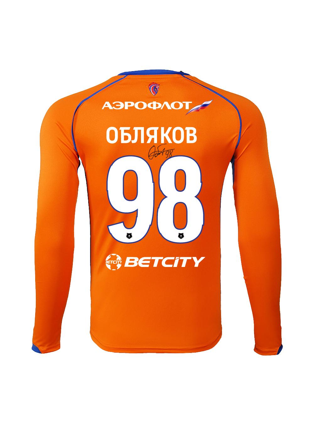 Купить Футболка игровая резервная с длинным рукавом с автографом ОБЛЯКОВА (S) по Нижнему Новгороду