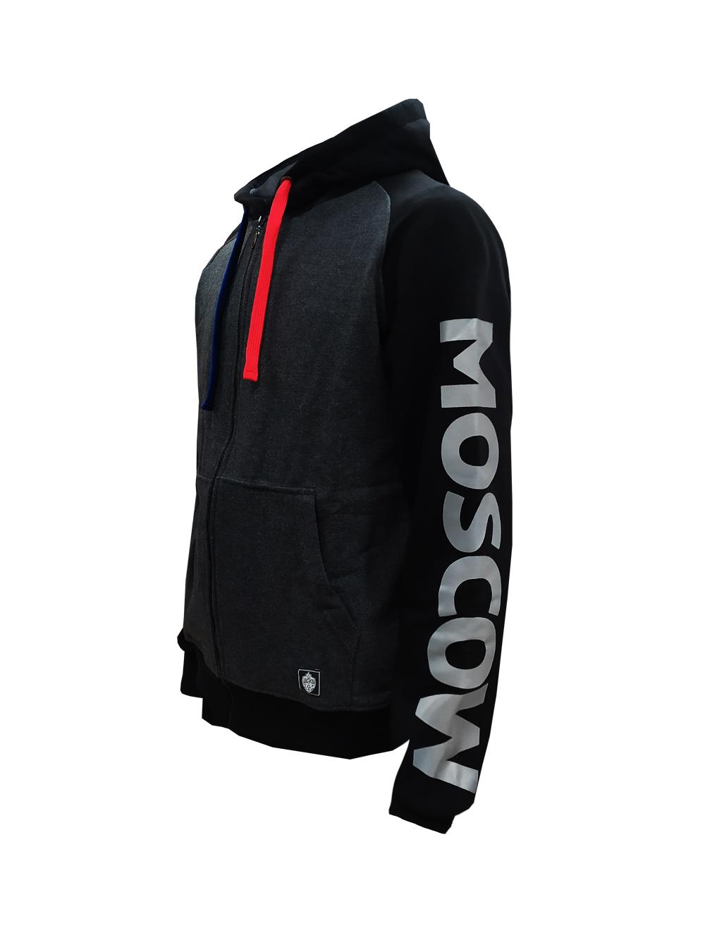 Купить Толстовка на молнии PFC CSKA MOSCOW, цвет серый (M) по Нижнему Новгороду