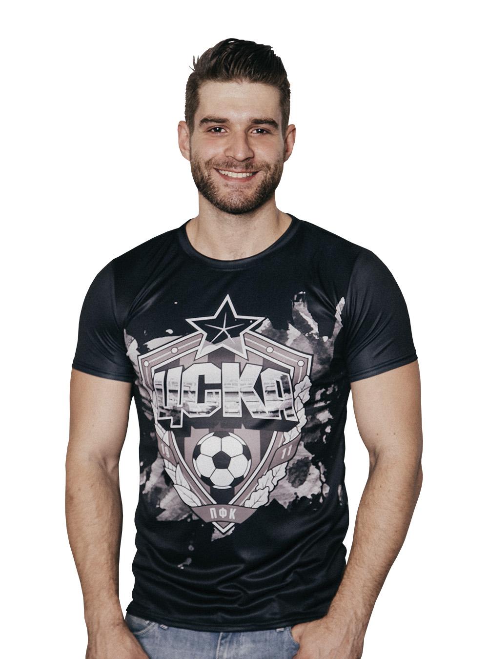 Купить Футболка мужская «Эмблема», цвет чёрный (4XL) по Нижнему Новгороду