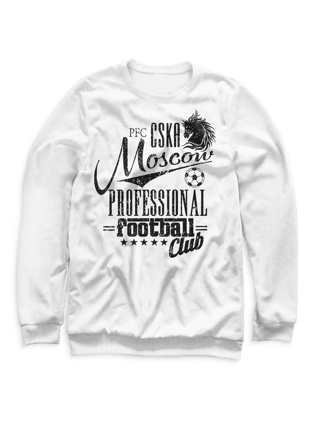 Купить Свитшот женский «PFC CSKA Moscow», цвет белый (L) по Нижнему Новгороду