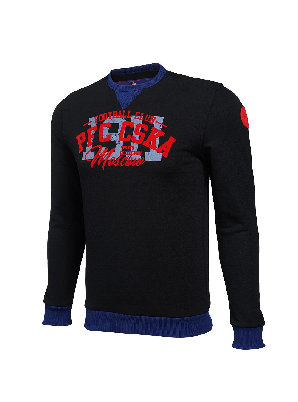 Купить Свитшот мужской PFC CSKA, цвет чёрный (XL) по Нижнему Новгороду