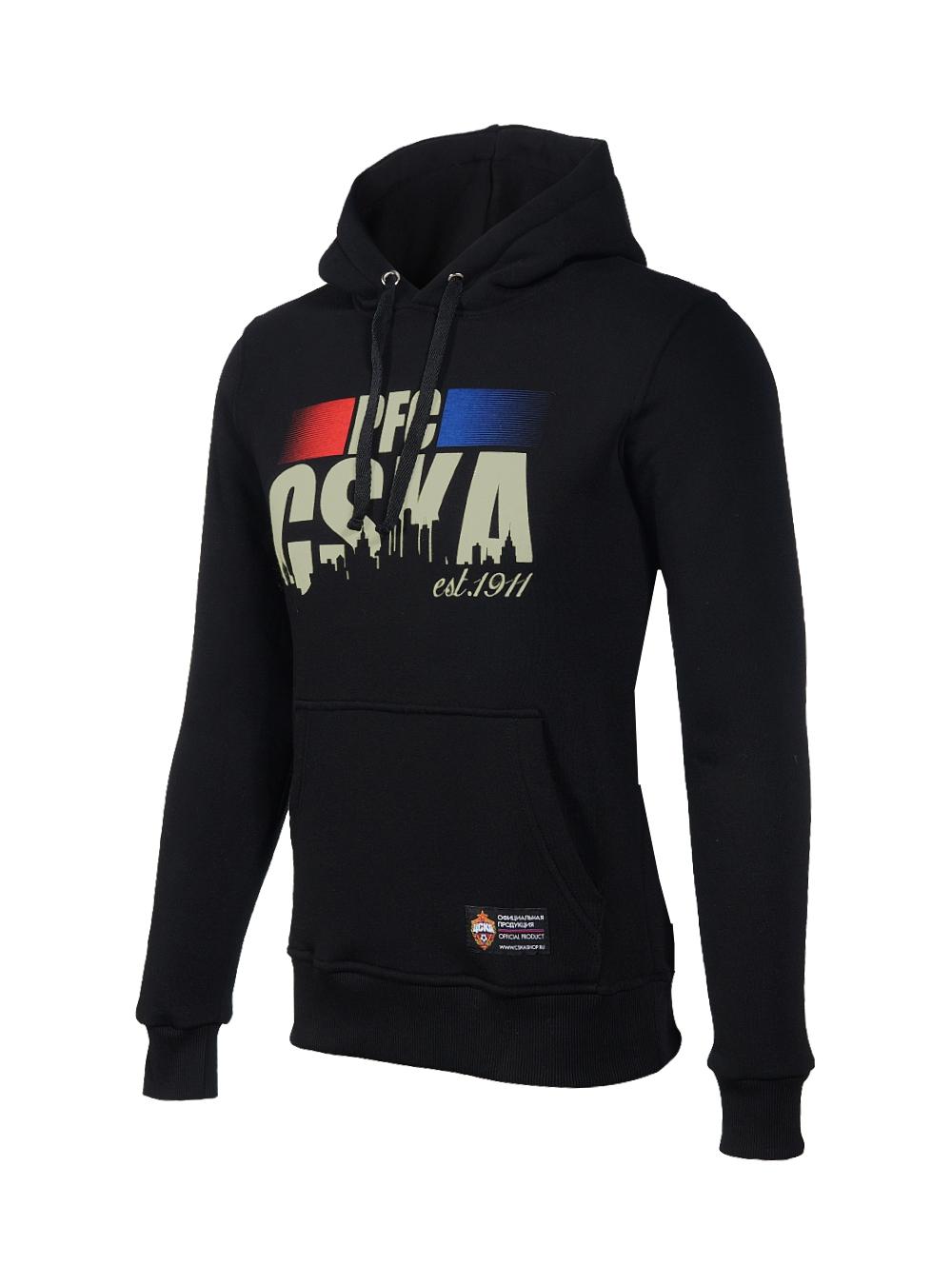 Купить Толстовка женская «PFC CSKA est.1911», цвет черный (L) по Нижнему Новгороду
